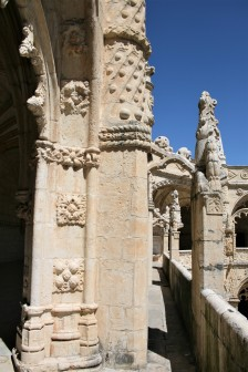 Carvings on the cloisters at the Mosteiro dos Jerónimos in Belém, Lisbon