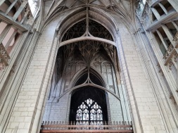 View from the south transept in Gloucester Cathedral