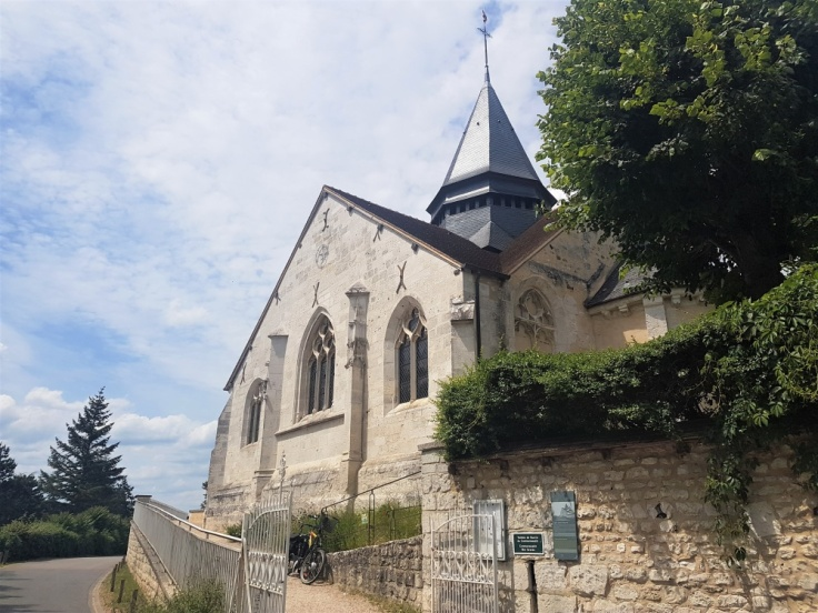 Sainte-Radegonde Church, where Claude Monet is buried, in Giverny