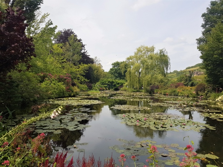 The water lily pond in Claude Monet's Japanese garden at Giverny